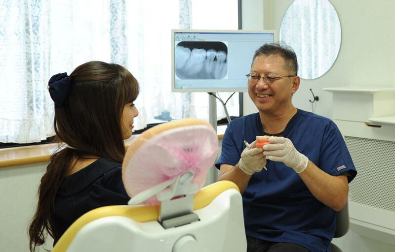 親知らずの抜歯方法を説明している画像